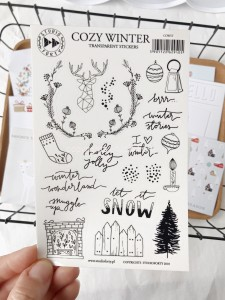 Cozy Winter - transparent stickers