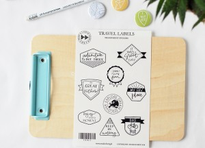 Travel labels- transparent stickers