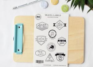 Travel labels- transparent stickers