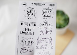 Be Motivated - sticker set