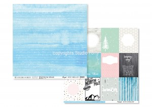 papier JUST CHILLIN - blizzard / postcards